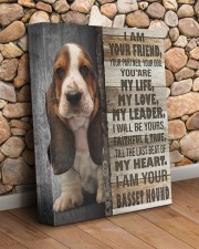 Basset hound - I am your friend 11x14 Gallery Wrapped Canvas Prints aos-canvas-pgw-11x14-lifestyle-front-18