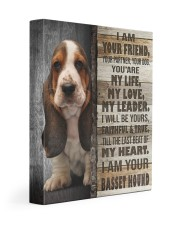 Basset hound - I am your friend 11x14 Gallery Wrapped Canvas Prints front