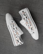 I love dolphins Men's Low Top White Shoes aos-complex-men-white-high-low-shoes-lifestyle-inside-left-outside-left-01