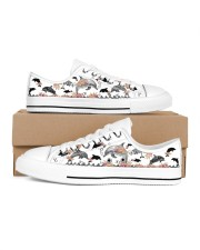 I love dolphins Men's Low Top White Shoes inside-right-outside-right