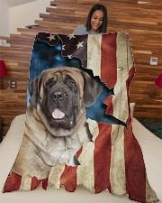 "Beautiful English Mastiff Large Fleece Blanket - 60"" x 80"" aos-coral-fleece-blanket-60x80-lifestyle-front-04"
