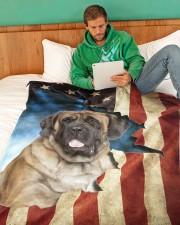 "Beautiful English Mastiff Large Fleece Blanket - 60"" x 80"" aos-coral-fleece-blanket-60x80-lifestyle-front-06"
