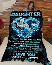 """To my daughter - I'll always be with you Large Fleece Blanket - 60"""" x 80"""" aos-coral-fleece-blanket-60x80-lifestyle-front-04"""