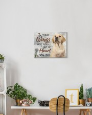 Labrador  - Your wings are ready 14x11 Gallery Wrapped Canvas Prints aos-canvas-pgw-14x11-lifestyle-front-03