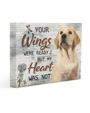 Labrador  - Your wings are ready 14x11 Gallery Wrapped Canvas Prints front