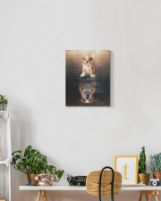 English bulldog - I am not a baby 11x14 Gallery Wrapped Canvas Prints aos-canvas-pgw-11x14-lifestyle-front-03
