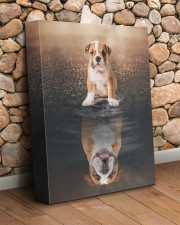 English bulldog - I am not a baby 11x14 Gallery Wrapped Canvas Prints aos-canvas-pgw-11x14-lifestyle-front-18
