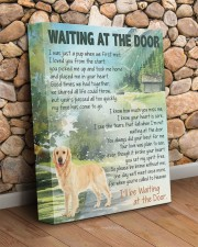 Golden retriever -  Waiting at the door 11x14 Gallery Wrapped Canvas Prints aos-canvas-pgw-11x14-lifestyle-front-18