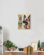 German Shepherd - I'll be there 11x14 Gallery Wrapped Canvas Prints aos-canvas-pgw-11x14-lifestyle-front-03