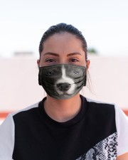 Amazing Staffordshire Bull Terrier Cloth face mask aos-face-mask-lifestyle-03