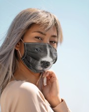 Amazing Staffordshire Bull Terrier Cloth face mask aos-face-mask-lifestyle-19