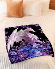 "I love dragons Small Fleece Blanket - 30"" x 40"" aos-coral-fleece-blanket-30x40-lifestyle-front-01"