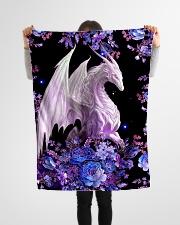 "I love dragons Small Fleece Blanket - 30"" x 40"" aos-coral-fleece-blanket-30x40-lifestyle-front-14"