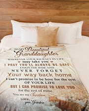 """To my granddaughter - You are my sunshine Large Fleece Blanket - 60"""" x 80"""" aos-coral-fleece-blanket-60x80-lifestyle-front-02"""