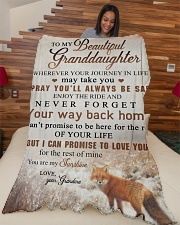 """To my granddaughter - You are my sunshine Large Fleece Blanket - 60"""" x 80"""" aos-coral-fleece-blanket-60x80-lifestyle-front-04"""