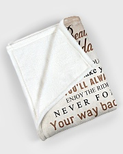 """To my granddaughter - You are my sunshine Large Fleece Blanket - 60"""" x 80"""" aos-coral-fleece-blanket-60x80-lifestyle-front-08"""
