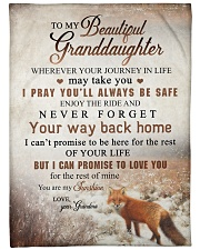 """To my granddaughter - You are my sunshine Large Fleece Blanket - 60"""" x 80"""" front"""