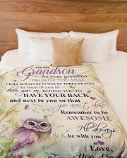 """Nana to my grandson - I'll always be with you Large Fleece Blanket - 60"""" x 80"""" aos-coral-fleece-blanket-60x80-lifestyle-front-02"""