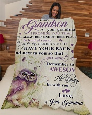 """Nana to my grandson - I'll always be with you Large Fleece Blanket - 60"""" x 80"""" aos-coral-fleece-blanket-60x80-lifestyle-front-04"""