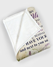 """Nana to my grandson - I'll always be with you Large Fleece Blanket - 60"""" x 80"""" aos-coral-fleece-blanket-60x80-lifestyle-front-08"""