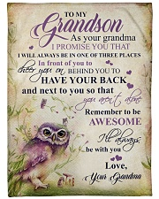 """Nana to my grandson - I'll always be with you Large Fleece Blanket - 60"""" x 80"""" front"""