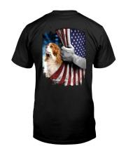 Cavalier King Charles  Spaniel Flag Classic T-Shirt back