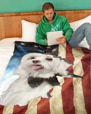 """Beautiful Maltese Large Fleece Blanket - 60"""" x 80"""" aos-coral-fleece-blanket-60x80-lifestyle-front-06"""