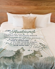 """To my husband - You make me a better person Large Fleece Blanket - 60"""" x 80"""" aos-coral-fleece-blanket-60x80-lifestyle-front-02"""