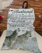 """To my husband - You make me a better person Large Fleece Blanket - 60"""" x 80"""" aos-coral-fleece-blanket-60x80-lifestyle-front-04"""