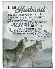 """To my husband - You make me a better person Large Fleece Blanket - 60"""" x 80"""" front"""