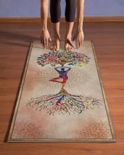 I love yoga Yoga Mat 24x70 (vertical) aos-yoga-mat-lifestyle-26