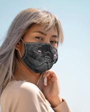 Amazing  Black pug  Cloth face mask aos-face-mask-lifestyle-19