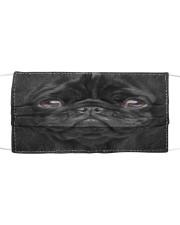 Amazing  Black pug  Cloth face mask front