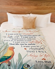 """To my son - Remember that I will always be there Large Fleece Blanket - 60"""" x 80"""" aos-coral-fleece-blanket-60x80-lifestyle-front-02"""