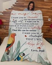 """To my son - Remember that I will always be there Large Fleece Blanket - 60"""" x 80"""" aos-coral-fleece-blanket-60x80-lifestyle-front-04"""