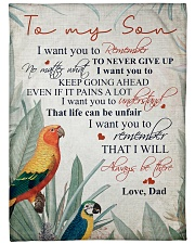 """To my son - Remember that I will always be there Large Fleece Blanket - 60"""" x 80"""" front"""