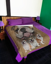 "English Bulldog - I love bulldogs  Large Fleece Blanket - 60"" x 80"" aos-coral-fleece-blanket-60x80-lifestyle-front-01"