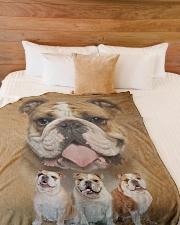 "English Bulldog - I love bulldogs  Large Fleece Blanket - 60"" x 80"" aos-coral-fleece-blanket-60x80-lifestyle-front-02"