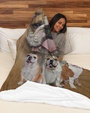 "English Bulldog - I love bulldogs  Large Fleece Blanket - 60"" x 80"" aos-coral-fleece-blanket-60x80-lifestyle-front-03"
