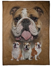 "English Bulldog - I love bulldogs  Large Fleece Blanket - 60"" x 80"" front"
