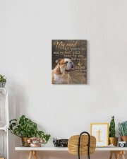 English Bulldog - My mind still talks to you 11x14 Gallery Wrapped Canvas Prints aos-canvas-pgw-11x14-lifestyle-front-03