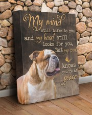 English Bulldog - My mind still talks to you 11x14 Gallery Wrapped Canvas Prints aos-canvas-pgw-11x14-lifestyle-front-18