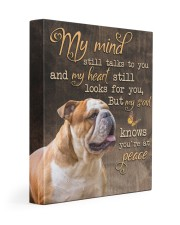 English Bulldog - My mind still talks to you 11x14 Gallery Wrapped Canvas Prints front