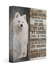 Samoyed- I am your friend 11x14 Gallery Wrapped Canvas Prints front