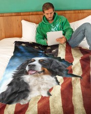 "Beautiful Bernese Mountain Large Fleece Blanket - 60"" x 80"" aos-coral-fleece-blanket-60x80-lifestyle-front-06"