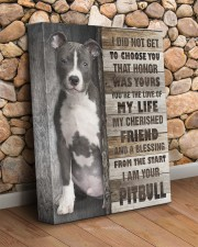 Pit Bull - The love of my life 11x14 Gallery Wrapped Canvas Prints aos-canvas-pgw-11x14-lifestyle-front-18