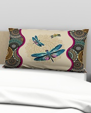 Dragonfly - I'll always be with you Rectangular Pillowcase aos-pillow-rectangular-front-lifestyle-01