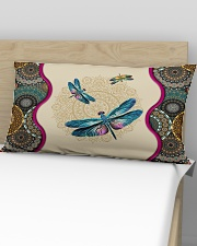 Dragonfly - I'll always be with you Rectangular Pillowcase aos-pillow-rectangular-front-lifestyle-02