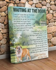 English bulldog - Waiting at the door 11x14 Gallery Wrapped Canvas Prints aos-canvas-pgw-11x14-lifestyle-front-18