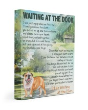 English bulldog - Waiting at the door 11x14 Gallery Wrapped Canvas Prints front